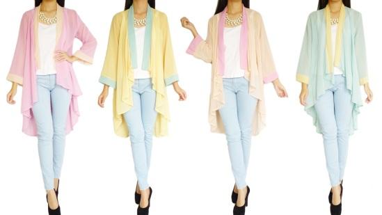 Dressisterz_Malaysia_Online_Shopping_Chiffon_Cardigan_Pastel_Duo-tone_Long_Cardigan_DZ40303_1