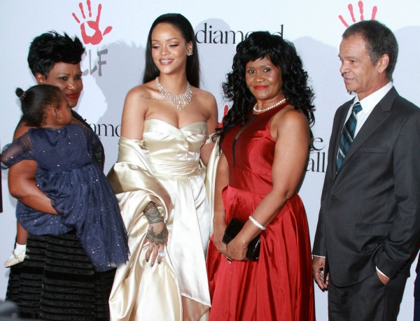 Rihanna's 2nd Annual Diamond Ball for the Clara Lionel Foundation held at The Barker Hanger in Santa Monica Featuring: Rihanna, mother Monica Braithwaite, father Ronald Fenty Where: Los Angeles, California, United States When: 10 Dec 2015 Credit: Adriana M. Barraza/WENN.com