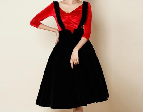 women-vintage-50s-font-b-black-b-font-velvet-circle-swing-font-b-suspender-b-font