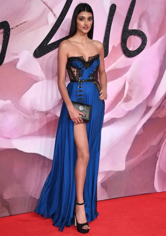 LONDON, ENGLAND - DECEMBER 05: Neelam Gill walks the red carpet for the British Fashion Awards 2016 on December 5, 2016 in London, England. (Photo by Venturelli/Getty Images for GUCCI)